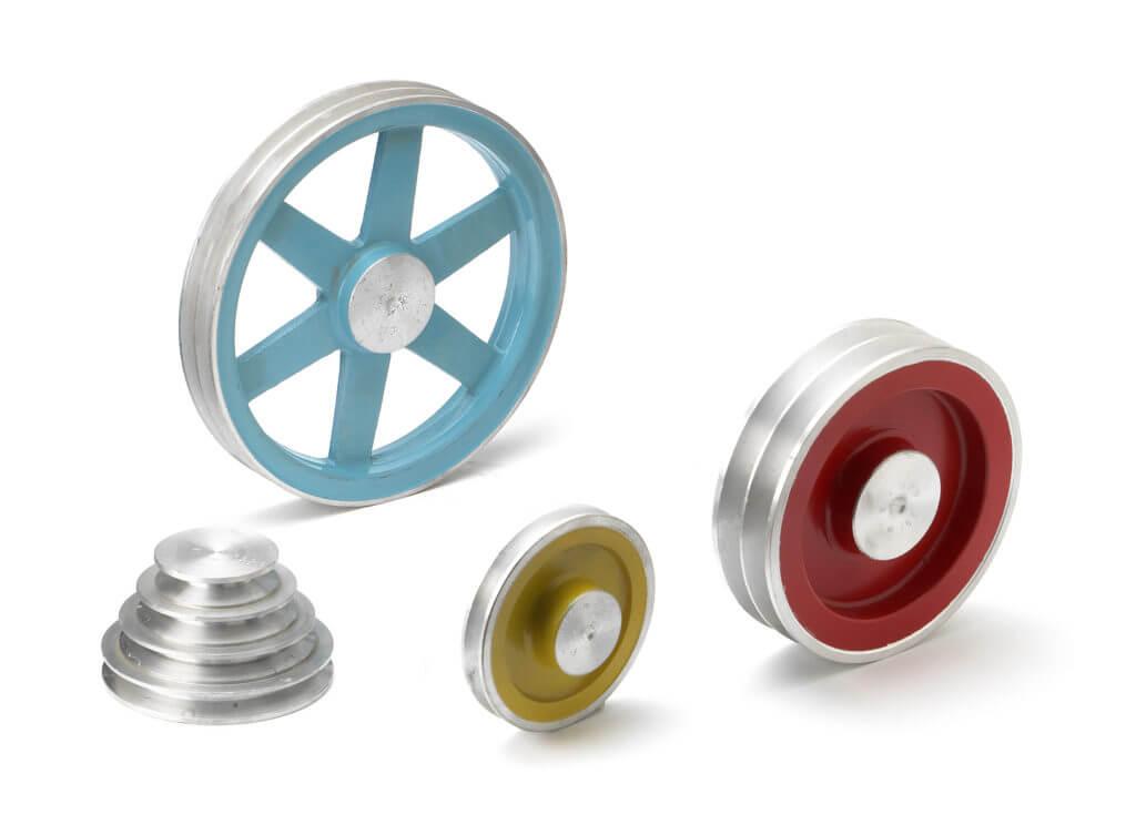 Trapezoidal aluminium pulleys